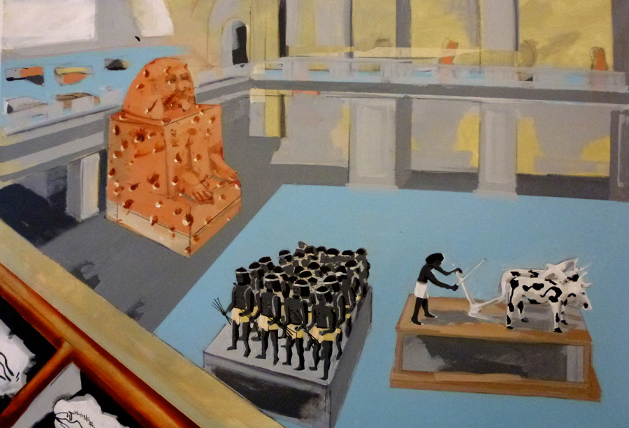 The Egyptian Museum, acrylic on canvas , 70x100cm