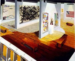 The Modern Affair 2003 oil on canvas 207 x 173 cm